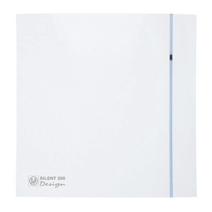 Вентилятор S&P SILENT-200 CHZ DESIGN-3C, 220-240 В, бесшумный, 50 Гц, белый