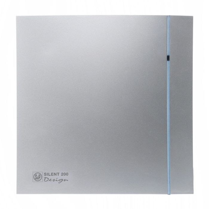Вентилятор S&P SILENT-200 CRZ SILVER DESIGN-3C, 220-240 В, бесшумный, 50 Гц, цвет серебряный  46935