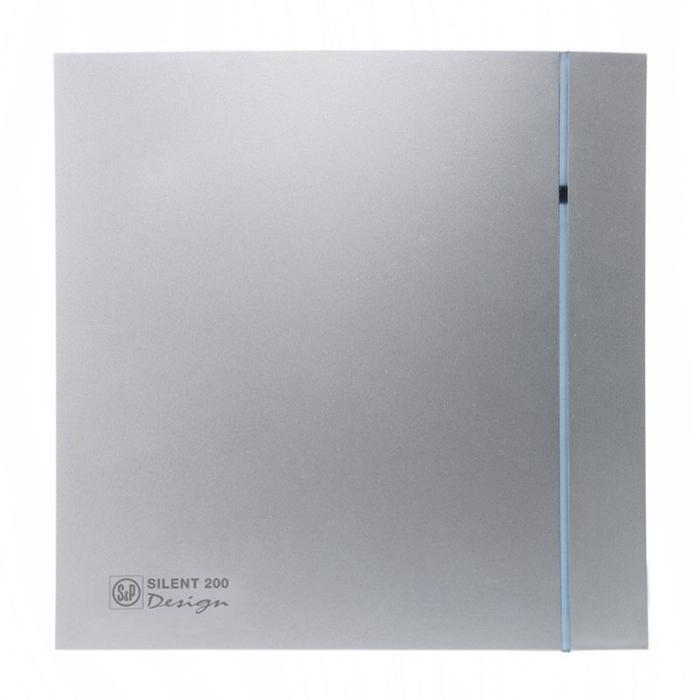 Вентилятор S&P SILENT-200 CHZ SILVER DESIGN-3C, 220-240 В, бесшумный, 50 Гц, цвет серебряный  46935