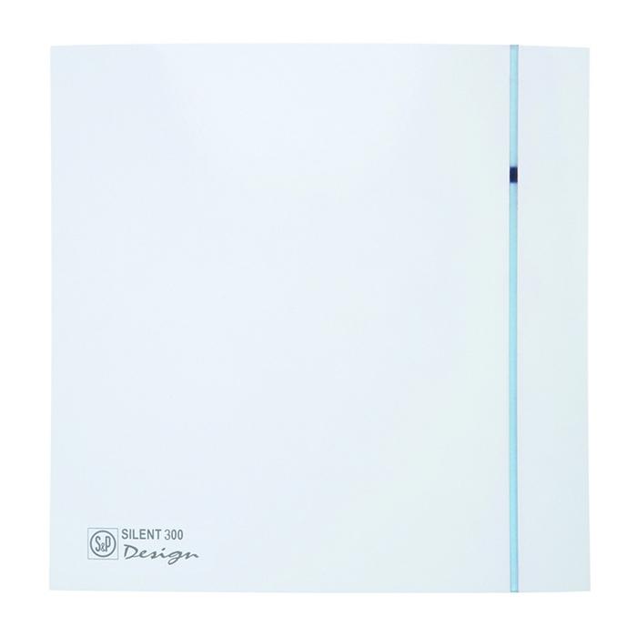 """Вентилятор S&P SILENT-300 CZ DESIGN-3C """"PLUS"""", 220-240 В, бесшумный, 50 Гц, белый"""