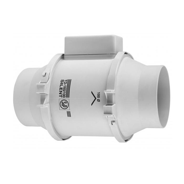 Вентилятор S&P TD160/100 N SILENT, 230 В, бесшумный, канальный, 50 Гц, белый