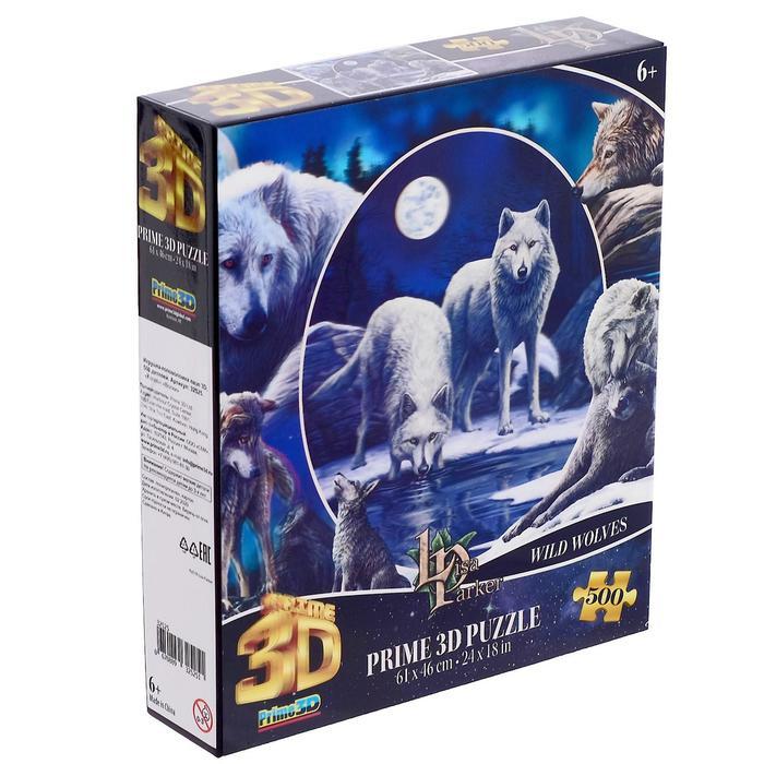 3D Пазл 500 элементов «Коллаж. Волки»