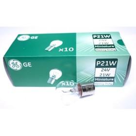 Лампа автомобильная General Electric HD, P21W, 24 В, 21 Вт, 1060HD
