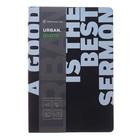 Записная книжка А5, 80 листов клетка Greenwich Line Urban. Quote, искусственная кожа, тонированный блок, цветной срез