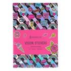 Записная книжка А6, 80 листов клетка Greenwich Line Vision. Stickers, искусственная кожа, тонированный блок, цветной срез