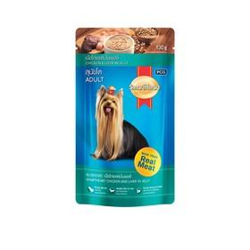 Влажный корм SmartHeart для собак, курица/печень в желе, пауч, 130 г Ош
