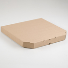 Упаковка для пиццы, бурая, 42 х 42 х 4,5 см