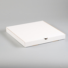 Упаковка для пиццы, белая, 31 х 31 х 3,5 см