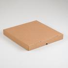 Упаковка для пиццы, бурая, 33 х 33 х 4 см