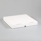 Упаковка для пиццы, белая, 30 х 30 х 4 см