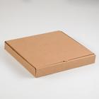 Упаковка для пиццы, бурая, 30 х 30 х 4 см