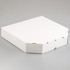 Упаковка для пиццы, белая, 37 х 37 х 7 см