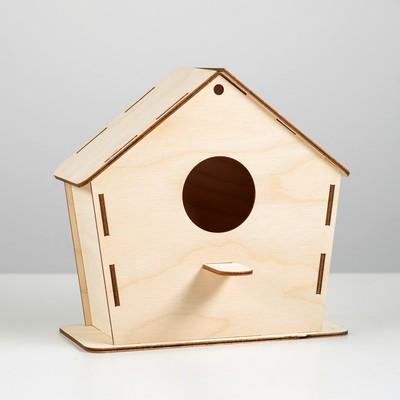 Скворечник для птиц сборный, 18 х 9 х 15 см (клей в комплект не входит)