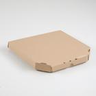 Упаковка для пиццы, бурая, 25,5 х 25,5 х 3 см