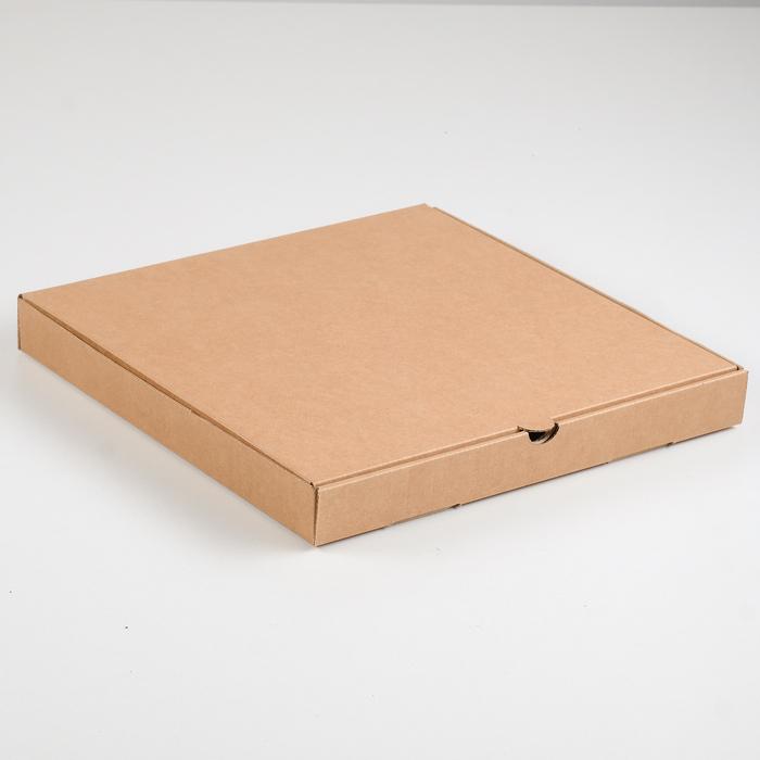 Упаковка для пиццы, бурая, 31 х 31 х 3,5 см