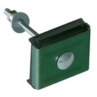 Крепление (скоба и болт) М6х85 RAL 6005 зеленый GL, шт