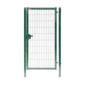 Калитка 1,53х1,0м RAL 6005(зеленый) 4,0мм GL Медиум New с замком  под бетон полим.порошк. покрытие я