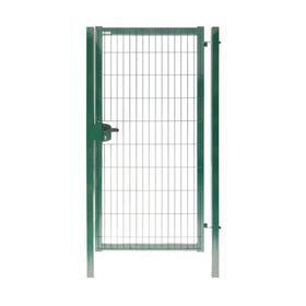 Калитка 2,03х1,0м RAL 6005(зеленый) 4,0мм GL Медиум New с замком  под бетон полим.порошк. покрытие я