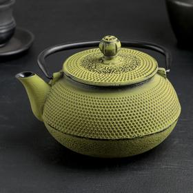 Чайник с ситом 600 мл 'Восточная ночь', зеленый, эмалированное покрытие внутри Ош