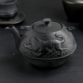Чайник «Золотой дракон», 700 мл, с ситом, эмалированное покрытие внутри, цвет чёрный Ош