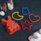 """Набор для выпечки """"Готовим сами. Новогодний"""", 5 предметов: 1 форма для запекания, 4 формы для теста"""
