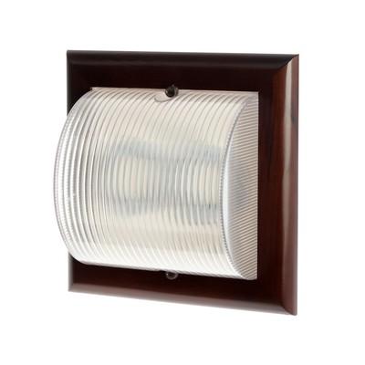 Светильник Ecola НББ-04-60-012, 2хGX53, IP65, 220В, 245х245 мм, матовый, цвет т/орех