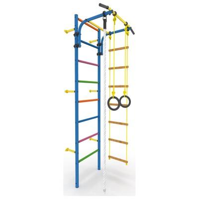 Детский спортивный комплекс «Атлет-2Ц», покрытие ПВХ, цветные ступени, 670 × 870 × 2250 мм, цвет синий - Фото 1
