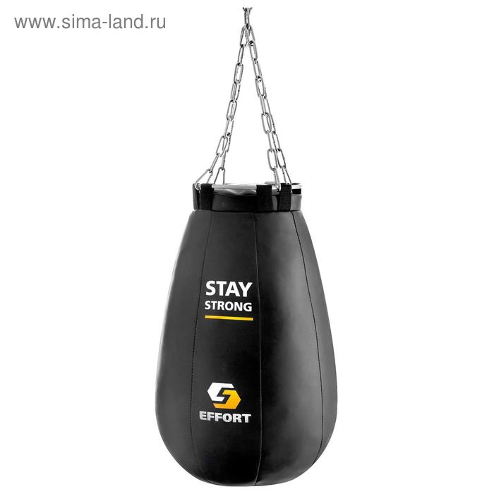 Груша боксёрская EFFORT PRO, металлическое кольцо и цепь, 55 см, d=35 см, 16 кг