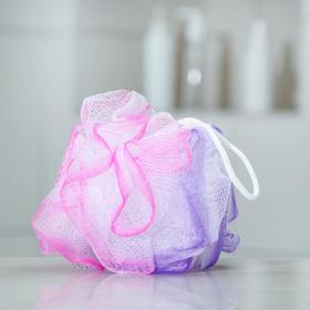 Мочалка для тела Доляна, двухцветная, цвет МИКС Ош