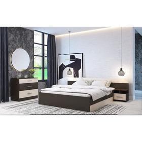 Спальня Леси, набор -  комод 800, кровать 1600, тумбы 2 шт , Венге/Дуб белфорд Ош