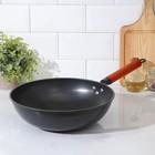 Сковорода-Wok «Жаклин», d=32 см, деревянная ручка - Фото 1