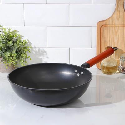 Сковорода-Wok «Жаклин», d=32 см, деревянная ручка