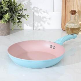 Сковорода кованая Доляна «Милими», d=24 см, индукция, ручка soft-touch, цвет МИКС