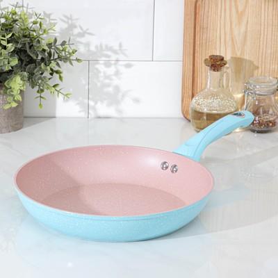 Сковорода кованая Доляна «Милими», d=26 см, индукция, ручка soft-touch, цвет МИКС