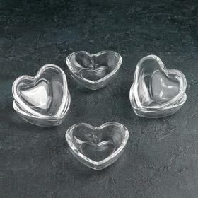 Набор розеток «Plain heart» 85 мл, 6 шт