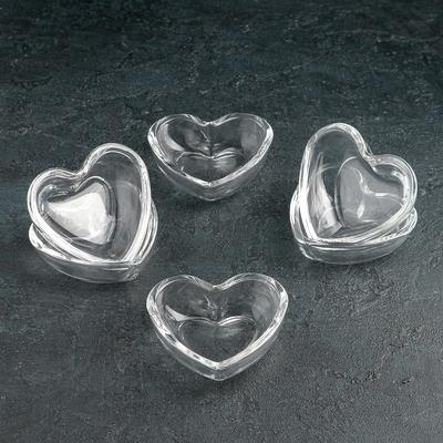 Набор розеток «Plain heart» 85 мл, 6 шт - Фото 1