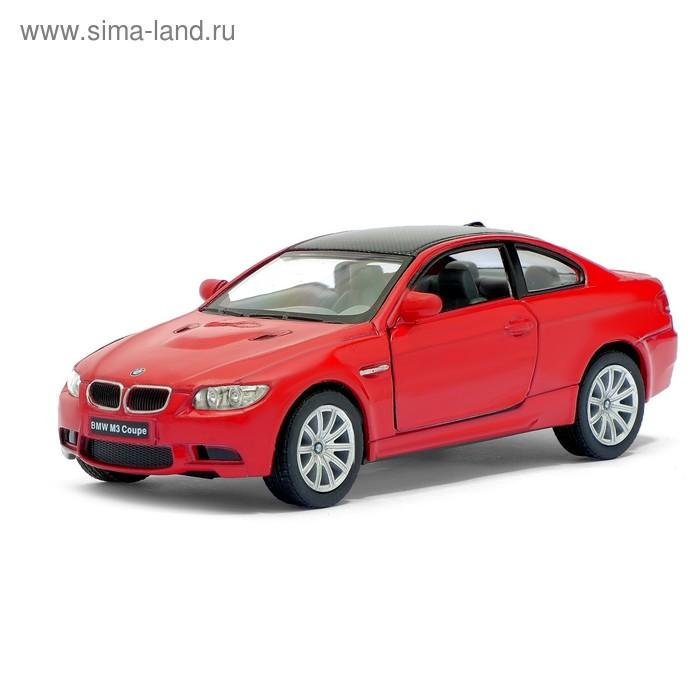 Машина металлическая BMW M3 Coupe, масштаб 1:36, открываются двери, инерция, цвет красный