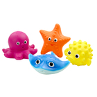 """Набор для купания 6 """"Рыба-Еж, морская звезда, осьминог, скат"""" В3762"""