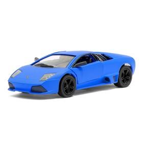 Машина металлическая Lamborghini Matte Series, 1:38, открываются двери, инерция, цвет синий матовый