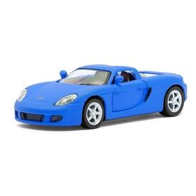 Машина металлическая Porsche Matte Series, 1:36, открываются двери, инерция, цвет синий матовый
