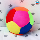 Развивающая игрушка «Мяч футбольный цветной», с бубенчиком - Фото 4