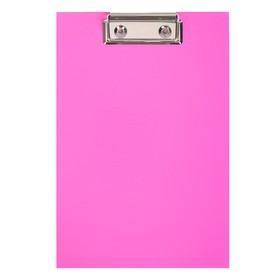 Планшет с зажимом А5, ErichKrause Neon, розовый Ош