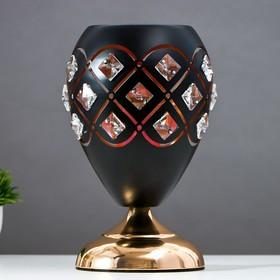 Аромасветильник сенсорный 7050056A/1 3 режима G4 20Вт черный 14,5х14,5х27 см Ош