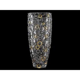 Ваза  35 см Lisboa «Золотые и чёрные кольца»