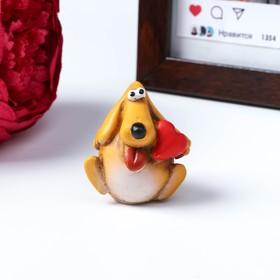 Сувенир на липучке 'Собачка с сердцем', 4 см Ош
