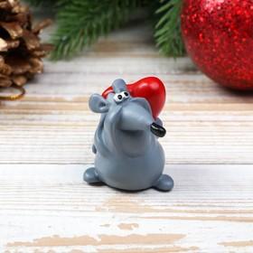 Сувенир на липучке 'Мышка с сердцем', 4 см Ош