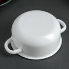 Кастрюля, 1,5 л, металлическая крышка, цвет белый - Фото 3