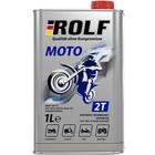 Масло моторное, Rolf Moto, для 2T мотоциклов, п/синтетическое, 1 л