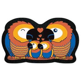Коврик придверный Format Forme «Попугаи», 40 х 68 см
