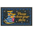 Коврик придверный Format Kolor «Вытирайте обувь!», 40 х 68 см
